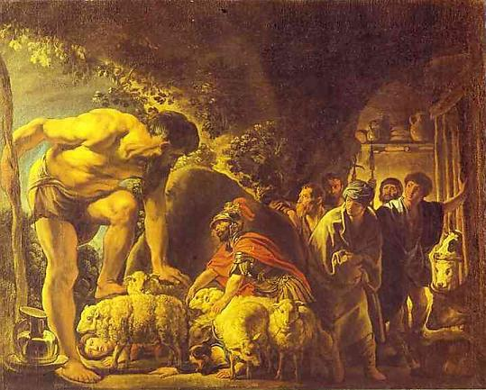 Name:  Odysseus Kiklop'un Mağarasında, Jakop Jordeans, Puşkin Güzel Sanatlar Müzesi, Rusya.jpg Views: 7359 Size:  55.2 KB